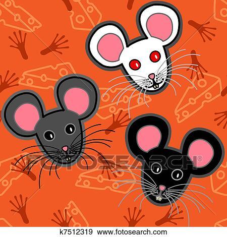 Sfondi nero illustrazione topi zucca blu cartone animato