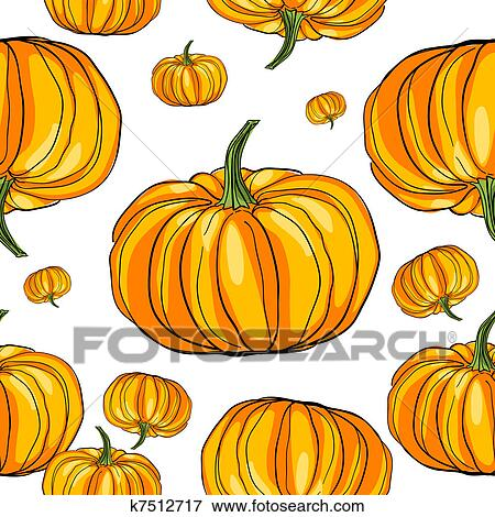 Thanksgiving Citrouille Modele Banque D Illustrations K7512717 Fotosearch