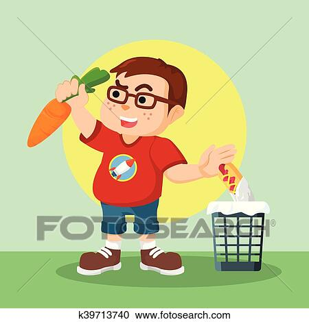 Fat Guy Trying To Eat Healthy Food Clipart K39713740 Fotosearch