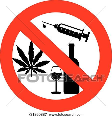 No drugs and alcohol sign Clip Art | k31860887 | Fotosearch