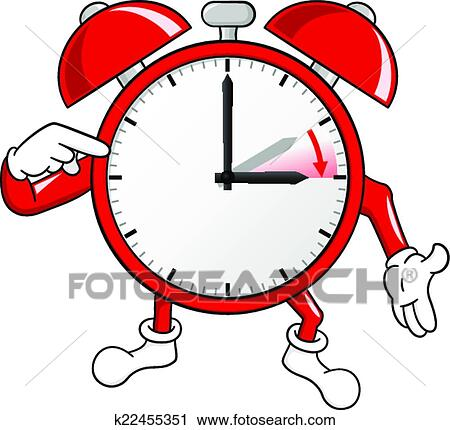 clipart of alarm clock change to daylight saving time k22455351 rh fotosearch com time change clip art spring forward fall time change clipart