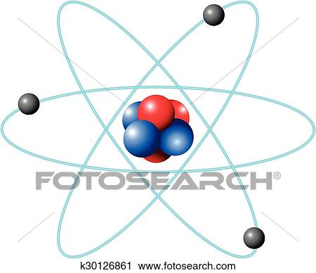 Clipart of atom diagram in large scale k30126861 search clip art atom diagram in large scale illustration ccuart Image collections