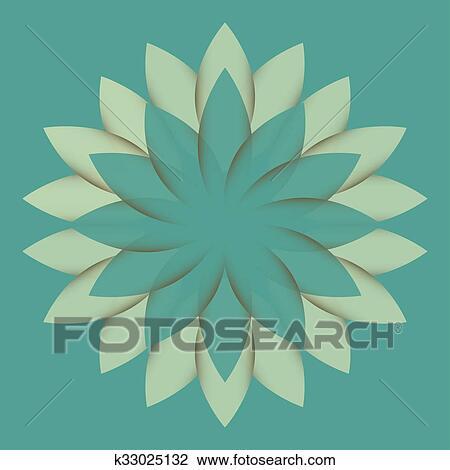Beautiful Lotus Flower Color Whee Drawing K33025132 Fotosearch