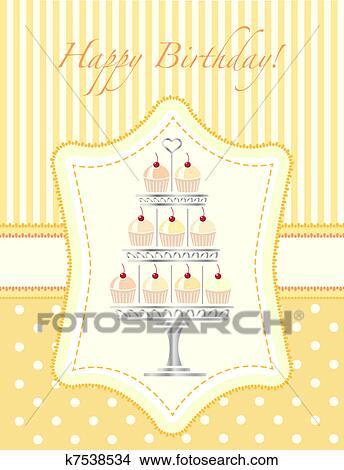 Kresby Cupcake Sablona Pozvani K7538534 Hledat Klipartove