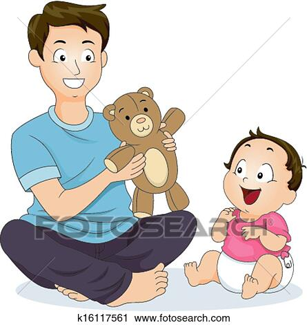 clipart of father and son play time k16117561 search clip art rh fotosearch com father clip art free father clip art black and white