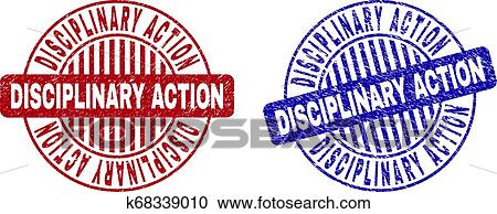 Disciplinary action rubber stamp. grunge design with dust scratches.  effects can be easily removed for a clean, crisp look.