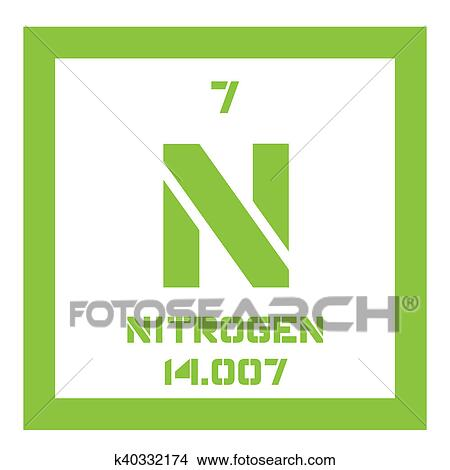 Drawings of nitrogen chemical element k40332174 search clip art nitrogen chemical element common element in the universe colored icon with atomic number and atomic weight chemical element of periodic table urtaz Images