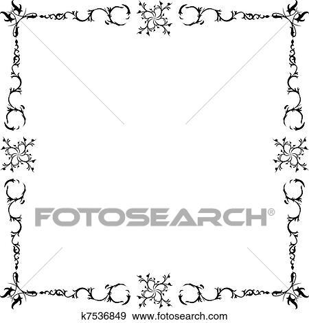 Stock Illustration - schwarz weiß, rahmen k7536849 - Suche Clipart ...