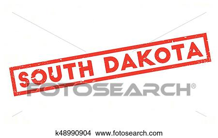 South Dakota Rubber Stamp Grunge Design With Dust Scratches Effects Can Be Easily Removed For A Clean Crisp Look Color Is Changed