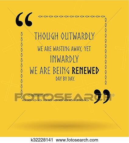 Vector Bible Quotes About Christian Renewal Clipart K32228141