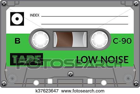 型 オーディオカセットテープ イラスト K37623647 Fotosearch