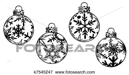 christmas ornaments drawings