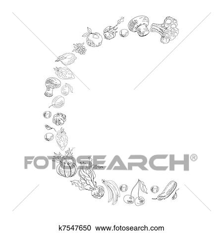 clipart decorative font letter c fotosearch search clip art illustration murals