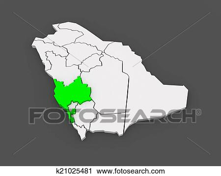 Clipart of Map of Mecca. Saudi Arabia. k21025481 - Search Clip Art ...