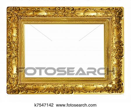 Stock Photo of old antique gold frame k7547142 - Search Stock ...