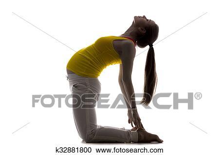 prenatal yoga camel pose stock image  k32881800  fotosearch