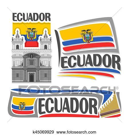 Clip Art Of Vector Logo Ecuador K45069929 Search Clipart