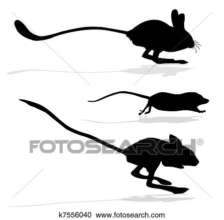 ネズミ シルエット