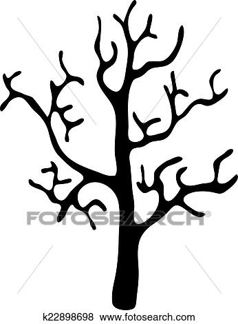 Black Tree Without Leaves Vector Clip Art K22898698 Fotosearch