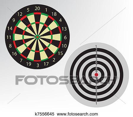 Clipart Of Dart Board Pikado Illustration K7556645 Search Clip Art
