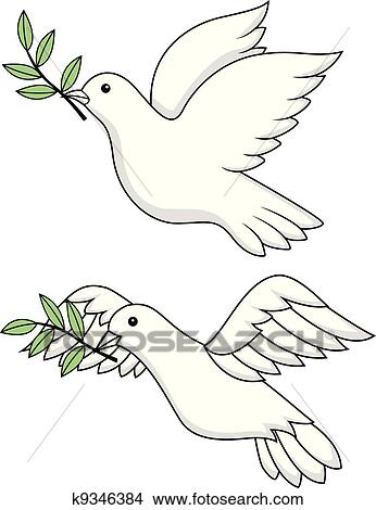 Clipart Of White Dove Symbol K9346384 Search Clip Art