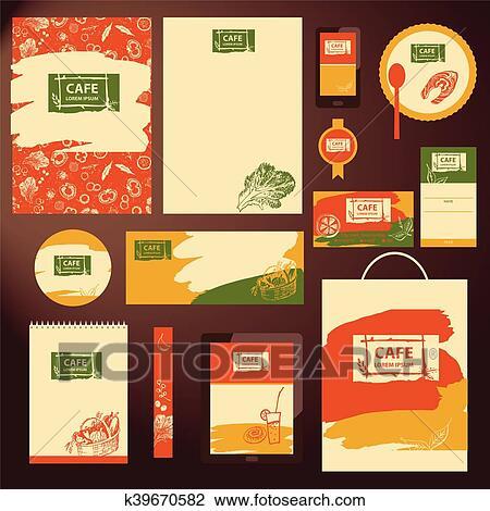 Clipart - elemento, de, diseño, plantilla, identidad corporativa ...