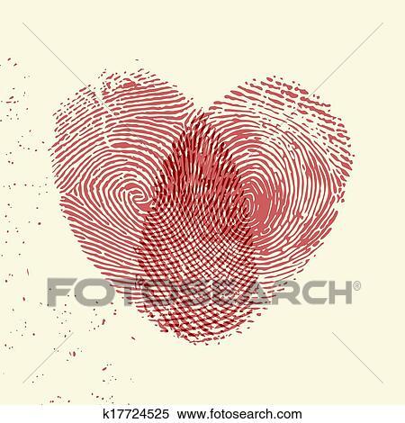 Clipart Fingerabdruck Herz K17724525 Suche Clip Art