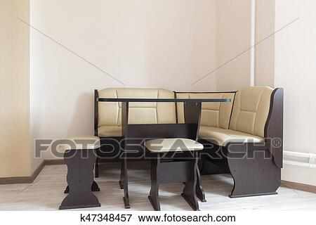 Picture Kitchen Corner Sofa And Table In Interior Fotosearch Search Stock Photography