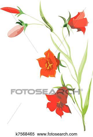 Clipart rote blumen k7568465 suche clip art illustration clipart rote blumen thecheapjerseys Images