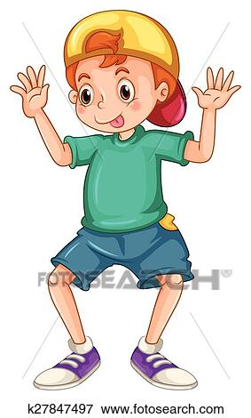 clip art of silly boy k27847497 search clipart illustration rh fotosearch com silly clip art with sayings silly clip art images