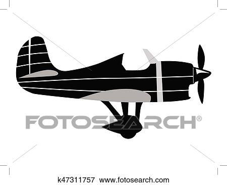 Vintage Airplane Clip Art K47311757 Fotosearch