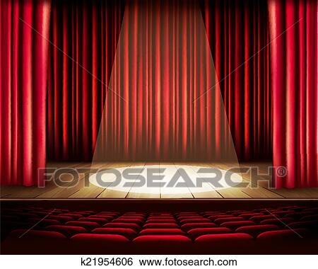 red theater seats inside clip art theater stage with red curtain seats and spotlight of
