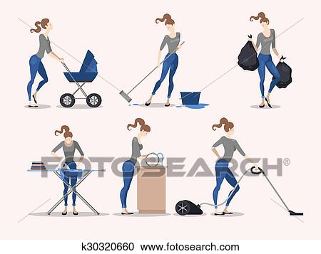 Abbildungen Von Hausarbeit Clipart K30320660 Fotosearch