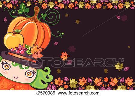 Clip Art - acción de gracias, feriado, encuadre 13 k7570986 - Buscar ...