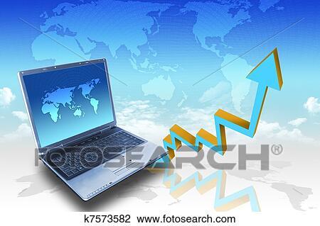 clip art of arrow graph showing high growth anything k7573582 rh fotosearch com Business Growth Clip Art Business Development Clip Art