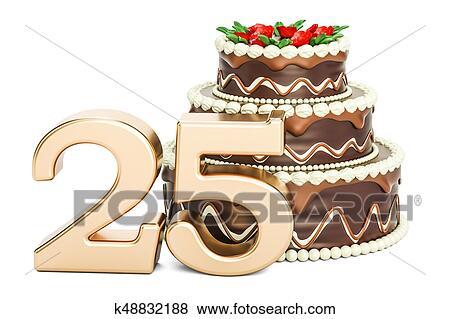 Coleccion De Ilustraciones Chocolate Torta De Cumpleanos Con