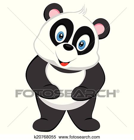Clipart Of Cute Baby Panda K20768055 Search Clip Art Illustration