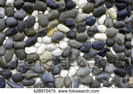 Mur En Cailloux banque d'image - fond, fait, de, a, mur, à, cailloux k28970475