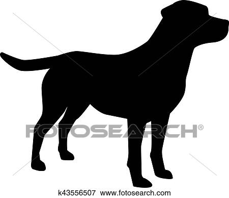 clip art of labrador retriever silhouette k43556507 search clipart rh fotosearch com Labrador Retriever Outline Drawings labrador retriever clip art free