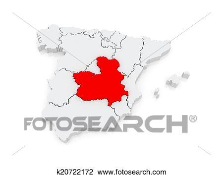 La Mancha Spain Map.Clip Art Of Map Of Castilla La Mancha Spain K20722172 Search
