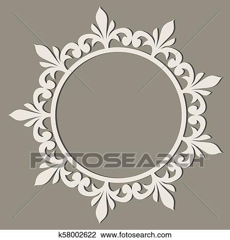 Decorativo Arte De Línea Marco Para Diseño Template Elegante Vector Elemento Oriental Estilo Lugar Para Text Dorado Contorno Floral