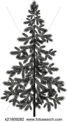 Clipart Natale Abete Rosso Albero Abete Silhouette K21809282
