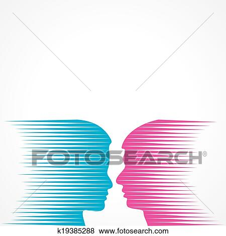 clip art of abstract male and female face k19385288 search clipart rh fotosearch com abstract clipart png abstract clipart background