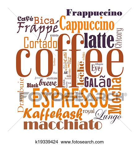 drawings of coffee word cloud collage k19339424 search clip art