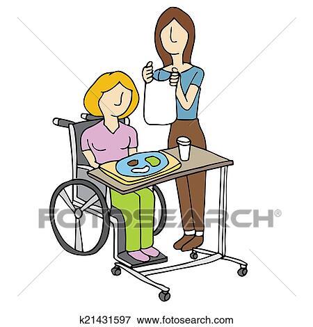 clip art of nursing home care k21431597 search clipart rh fotosearch com home daycare clipart home care carterton