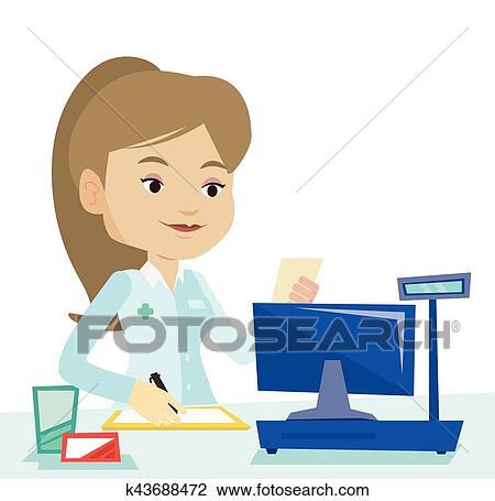 clipart of pharmacist writing prescription k43688472 search clip rh fotosearch com pharmacist clip art free pharmacist clip art free