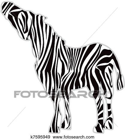Stock Illustration Of Zebra Print Silhouette K7595949