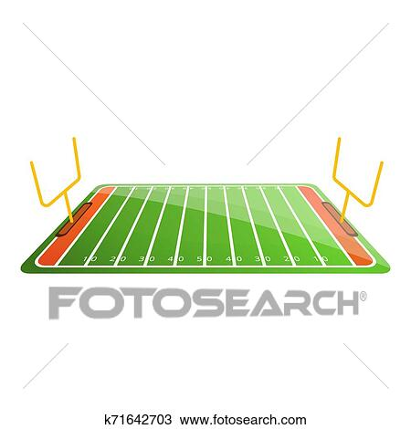 American Football Field Icon Cartoon Style Drawing K71642703 Fotosearch