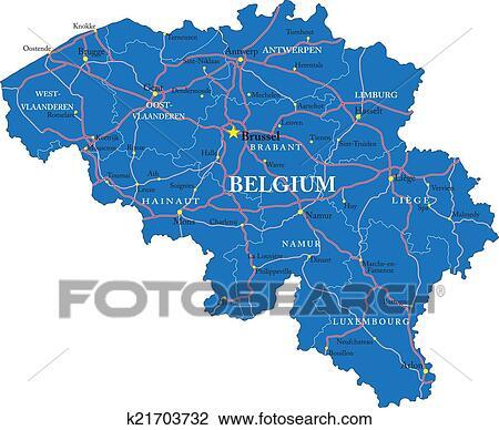 clipart belgie kaart k21703732 zoek clipart