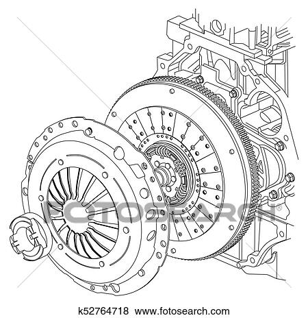 Car Clutch Scheme Stock Illustration